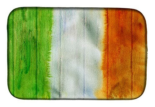 BB5753DDM Irish Flag on Wood Dish Drying Mat, 14