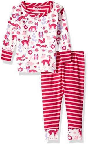 - Hatley Baby Girls' Organic Cotton Long Sleeve Mini Pajama Sets, Woodland Tea Party, 6-9m