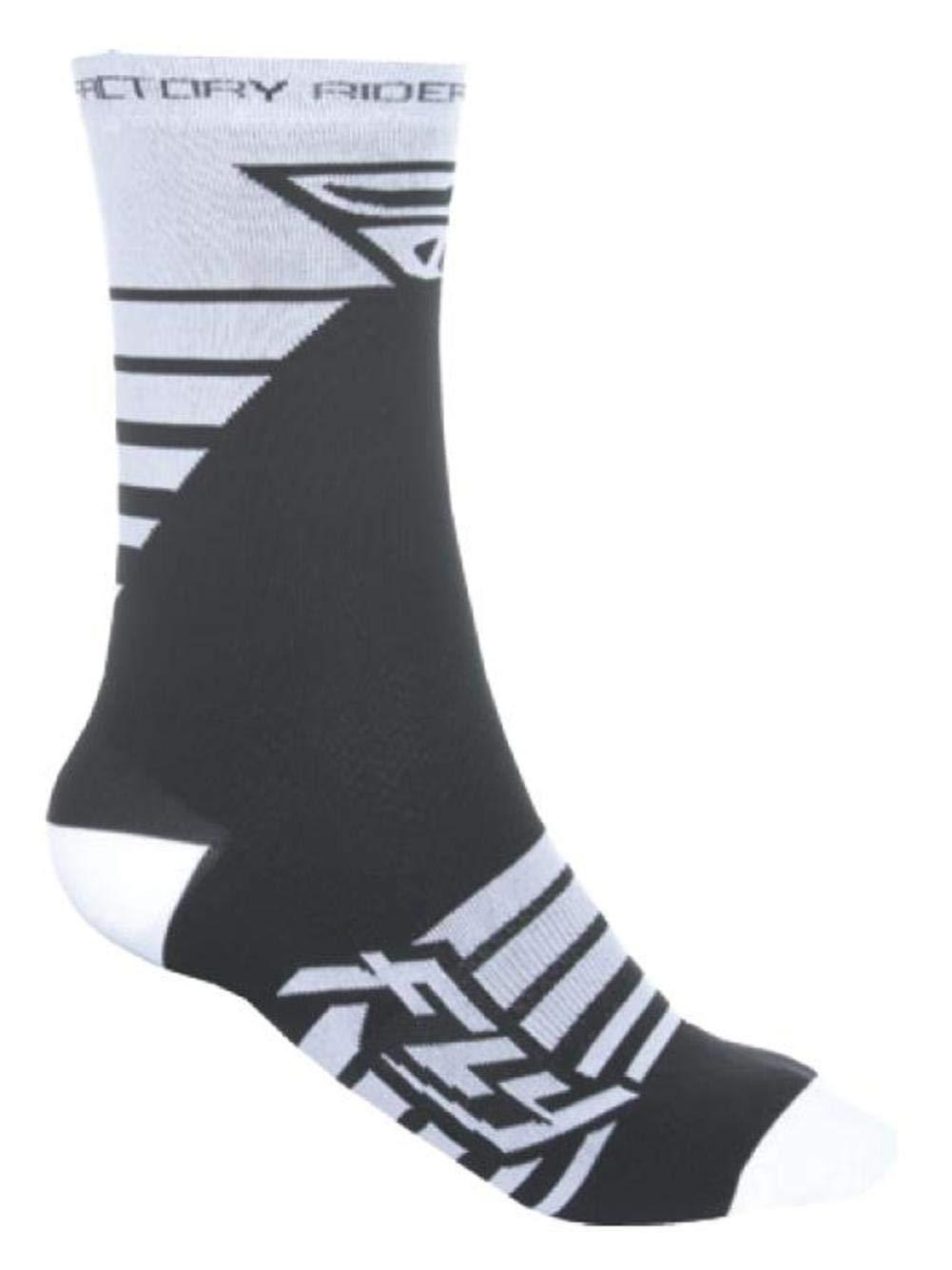 Fly Racing Factory Rider Socks White/Black (White, Large - X-Large)