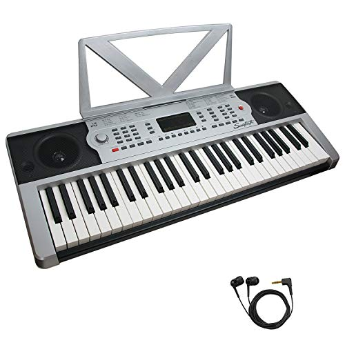 Sawtooth 54-Key Portable Music Keyboard with Earbuds