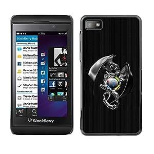 GagaDesign Phone Accessories: Hard Case Cover for Blackberry Z10 - Metal Sci Fi Dragon