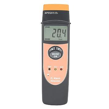 Zunate SPD201 Alta precisión portátil de Alarma de oxígeno Digital de Mano O2 Detector de Gas probador medidor: Amazon.es: Electrónica