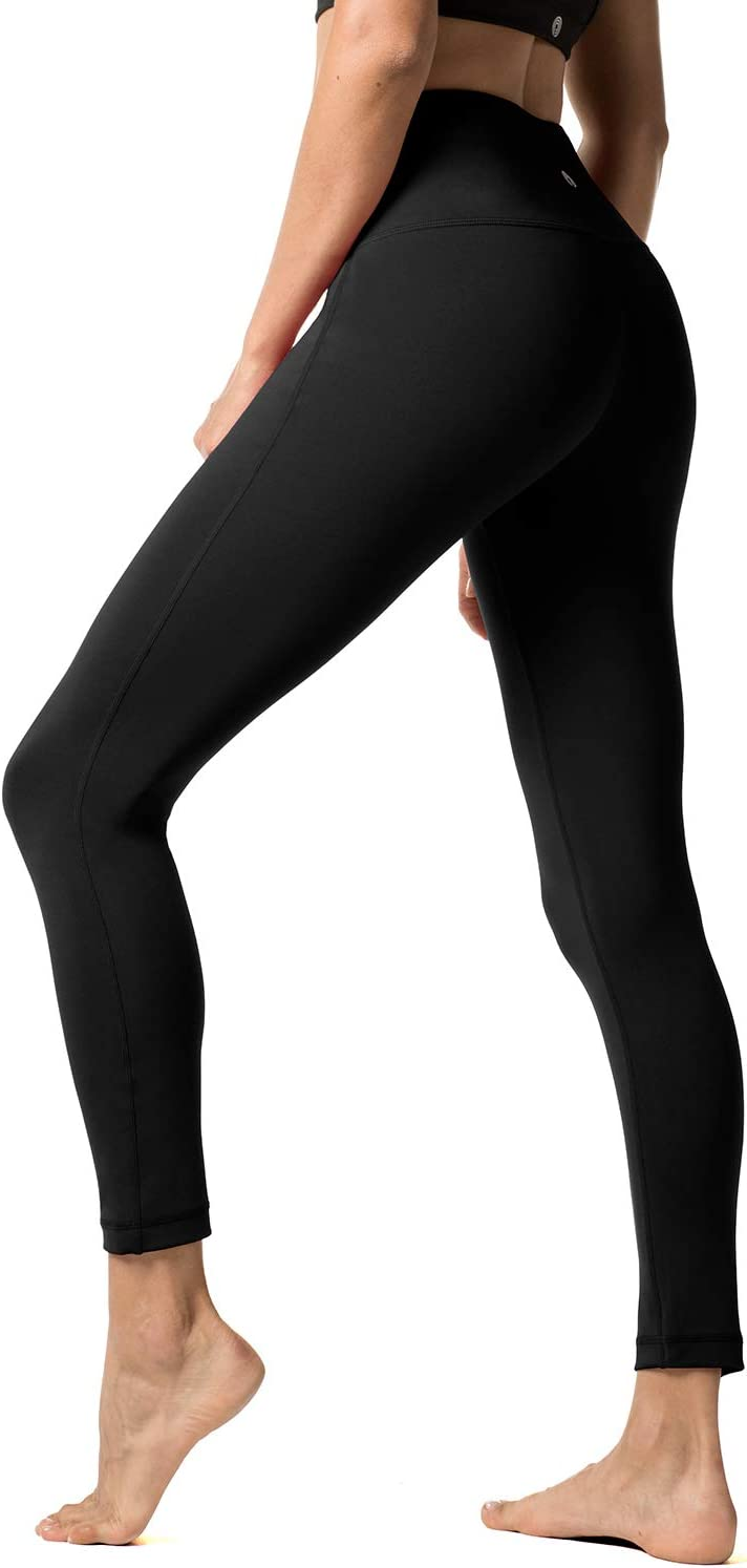 LAPASA Yoga Pants for Women Sports Leggings High Waist Tummy Control Workout Running Tights L01