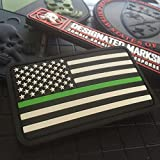 (US) Thin Green Line American Flag 3D Morale Patch - SWAT