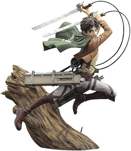 Amazon Com Attack On Titan Artfx J Eren Yeager 1 8scale Pvc Toys Games Eren is shingeki no kyojin's protagonist. attack on titan artfx j eren yeager 1 8scale pvc