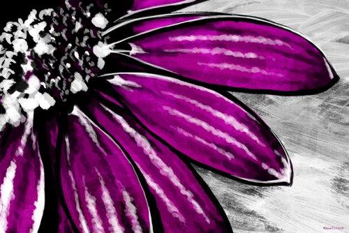 Maxwell Dickson  Purple Petals  Floral Flower Pop Art Canvas Print Artwork