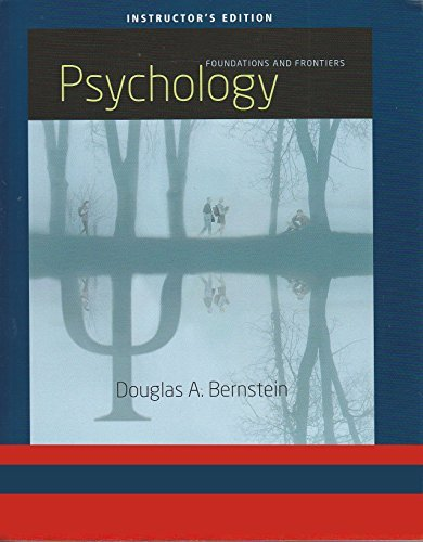 Price comparison product image Psychology - Foundations and Frontiers (Instructor Edition)