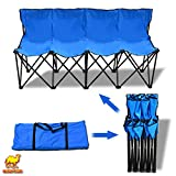 Strong Camel Folding Portable Team Sports Sideline Bench 4 Seater Blue Color Outdoor Waterproof carrybag