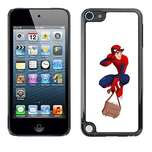 [A-type Colorful Printed Hard Protective Back Case Cover Shell Skin for Apple iPod Touch 5 ( Superhero Costume Red Blue Mask Boy Man] (Quality Superhero Costumes)