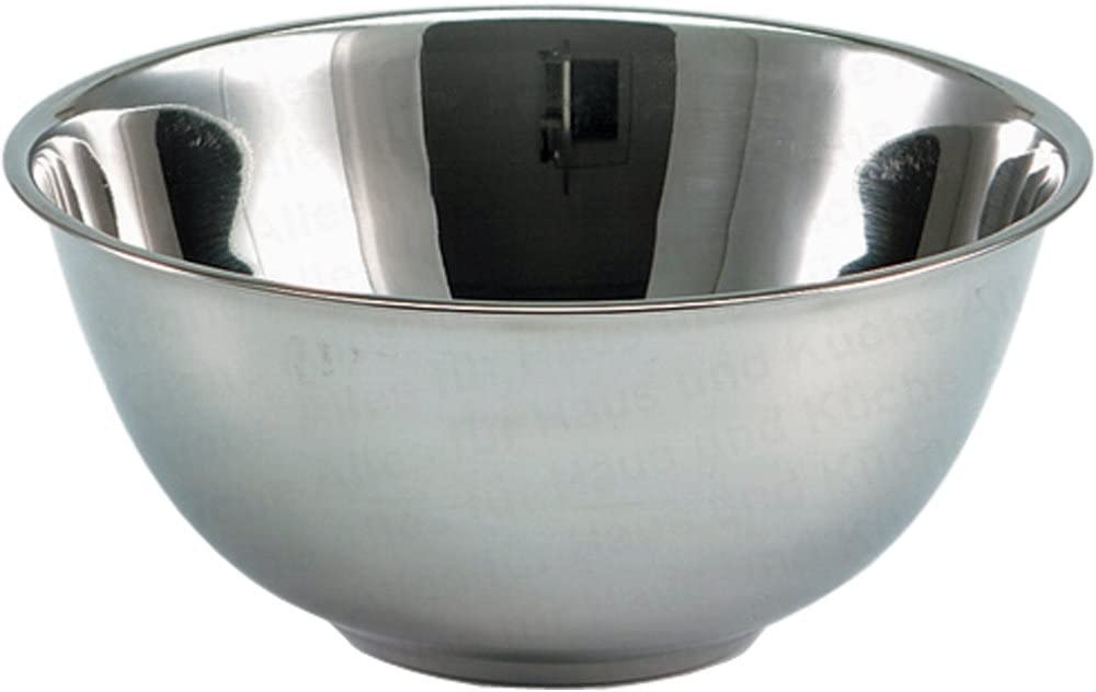 28 cm extra tief R/ührsch/üssel aus Edelstahl