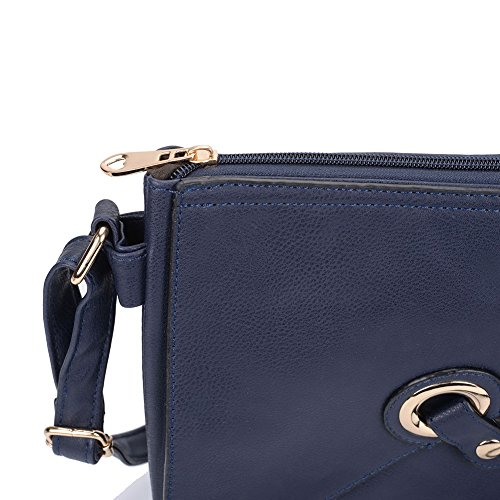 Body PU SALLY Strap Navy Across Women Leather YOUNG High Quality Bag With Fashion wXXP8q6F