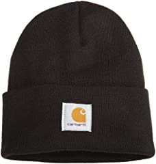 A classic. You'll reach for it every time the wind gets blustery and the temperatures drop. Not only warm, but comfortable, too. Made of 100 percent acrylic rib-knit fabric, stretchable, one-size-fits-all, fits most any noggin, Carhartt label...