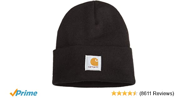 d379a950035e3f Carhartt Men's Acrylic Watch Hat A18, Black, One Size at Amazon Men's  Clothing store: Cold Weather Hats