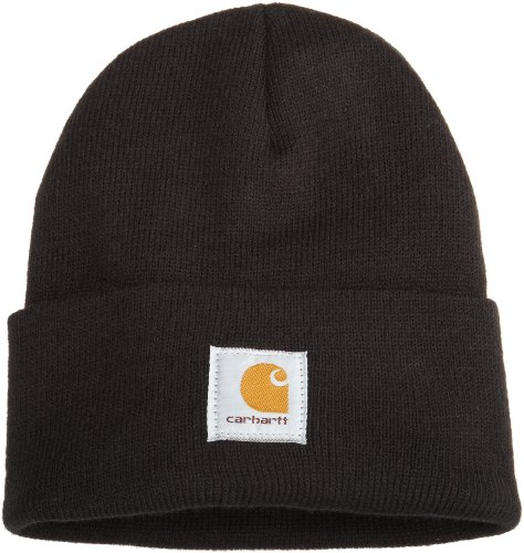 Carhartt Men's Acrylic Watch Hat A18, Black, One Size -