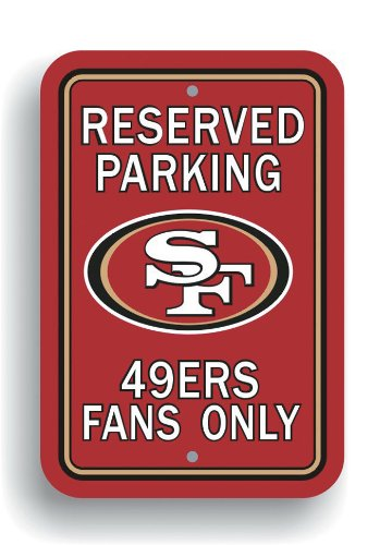 San Francisco 49ers Parking Sign 12 In.x 18 In. ()