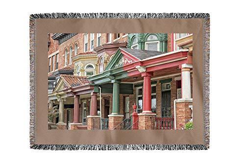 Lantern Press Baltimore, Maryland - Druid Hill - Photography A-92916 (60x80 Woven Chenille Yarn Blanket)