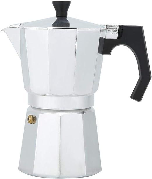 Cafetera Espresso, Cafetera Cafetera Moka Cafetera Espresso 6 tazas Jarra Moka de aluminio Cafetera octogonal para electrodomésticos para café Espresso: Amazon.es: Hogar