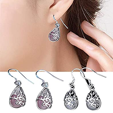 Happiness Sweet Long Earrings Earrings Cat Eye Style Fashion Love Wishing Pool Wedding Earrings Ms