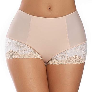 6f874db34c6e Lace Panties for Women Full Coverage Boy Shorts Under Dress Underwear Mid  Waist Light Tummy Control