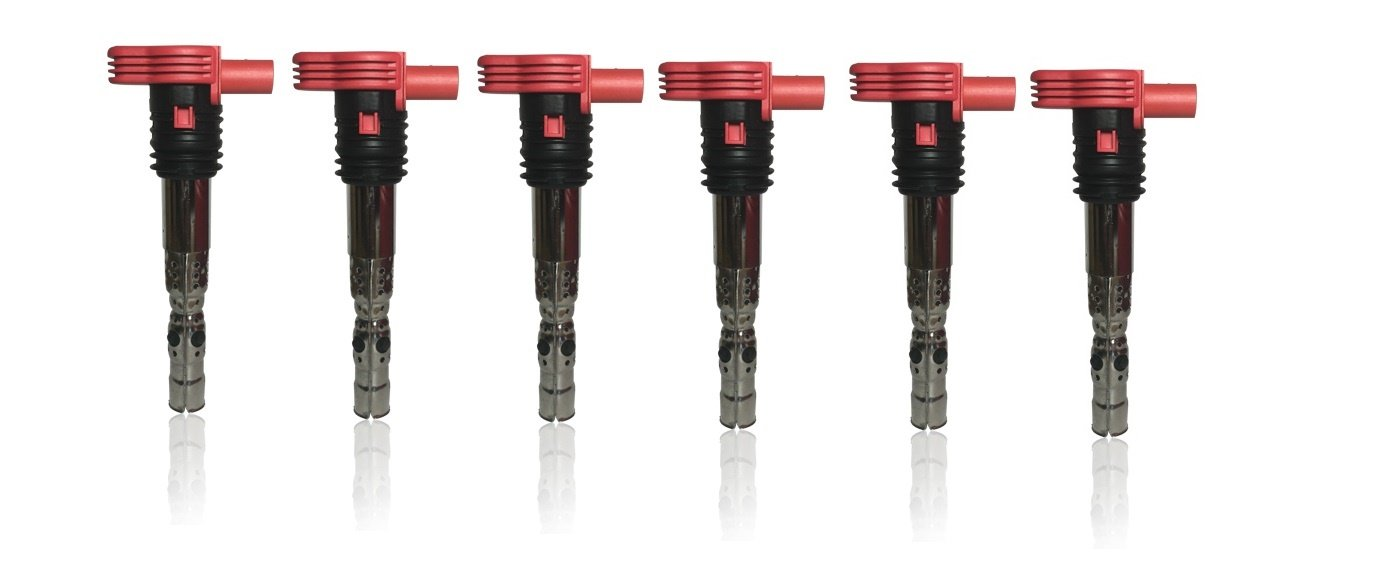 Ignition Coil Pack Set of 6 - Replaces# 06C905115M Audi 3.0L V6 Vehicles Image