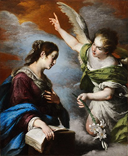 Doppelganger33 Ltd Painting Strozzi The Annunciation Xxl Wall Canvas Art Print
