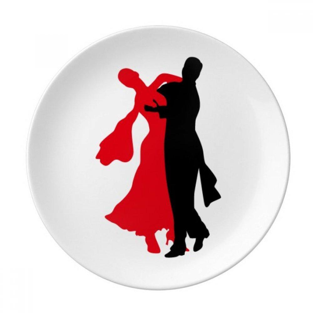 Social Dancing Dancer Duet Dance Dessert Plate Decorative Porcelain 8 inch Dinner Home