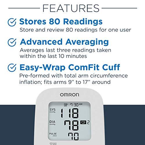 Omron Silver Blood Pressure Monitor, Upper Arm Cuff, Digital Bluetooth Blood Pressure Machine, Storesup To 80 Readings 3