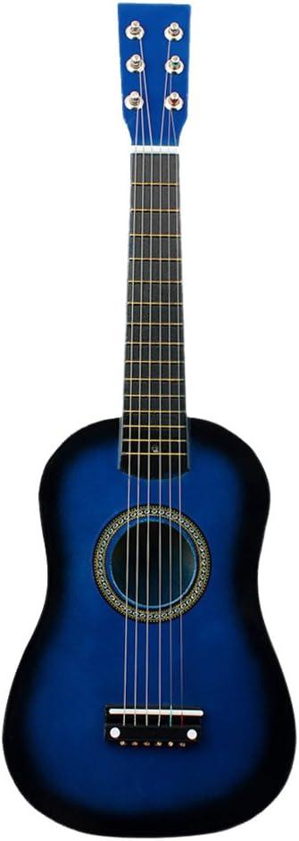 Guitarra Mini de Madera para Niños, Guitarra acústica de 21 Pulgadas, Guitarra de Madera Portátil para Niños, Niños Principiantes, Juguete, se Puede Usar Como Regalo de Cumpleaños (Azul)