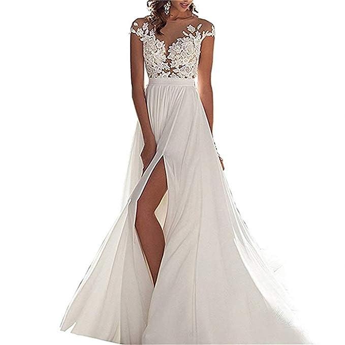b99c5a0a16e4 ANJURUISI Abiti da Sposa semplici Abiti da Sposa in Abito da Sposa per  Matrimoni  Amazon.it  Abbigliamento