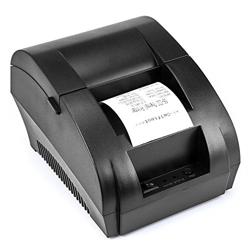 Portable Usb Printers - TEROW USB Thermal Receipt Printer 58mm Mini Portable Label Printer with High Speed Printing Compatible with ESC/POS Print Commands Set,Easy to Setup