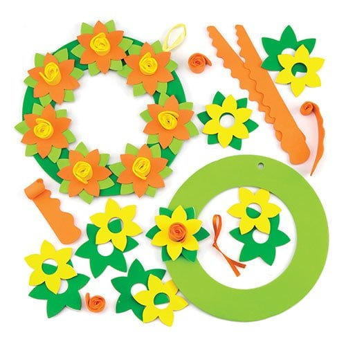 Baker Ross Daffodil Wreath Kits for Kids Perfect for Spring