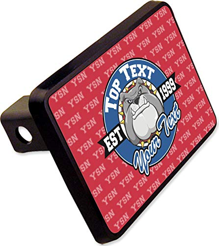"YouCustomizeIt School Mascot Rectangular Trailer Hitch Cover - 2"" (Personalized)"