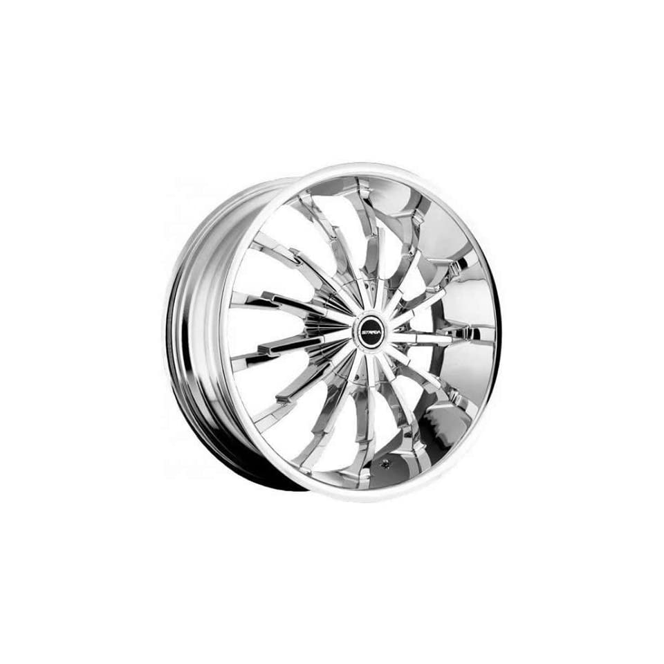 Strada Stiletto 22 Chrome Wheel / Rim 5x4.5 & 5x5 with a 40mm Offset and a 74.1 Hub Bore. Partnumber S26250340