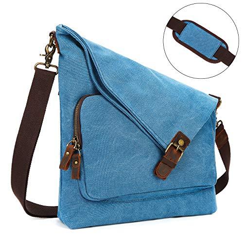 2643817d7de6 Finders | AmHoo Canvas Crossbody Bag for Women Genuine Leather ...