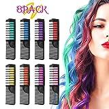 Hair Chalk, ETEREAUTY Hair Chalk Color Comb Temporary Hair Color Cream Non-toxic Washable