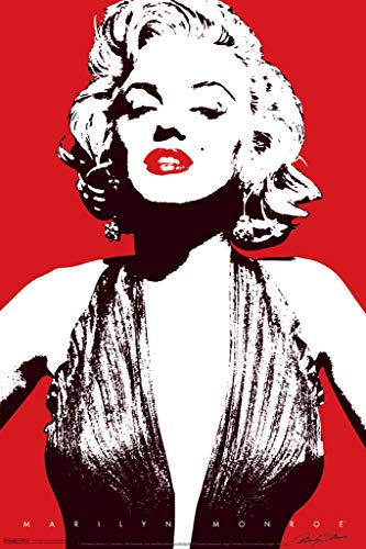 Marilyn Monroe Red Pop Art Lips Hollywood Sex Symbol Actress Legend Poster 12x18 inch ()