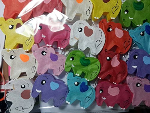 20 X Handmade Elephant Plant Paper Lantern String Light Kid Bedroom Light