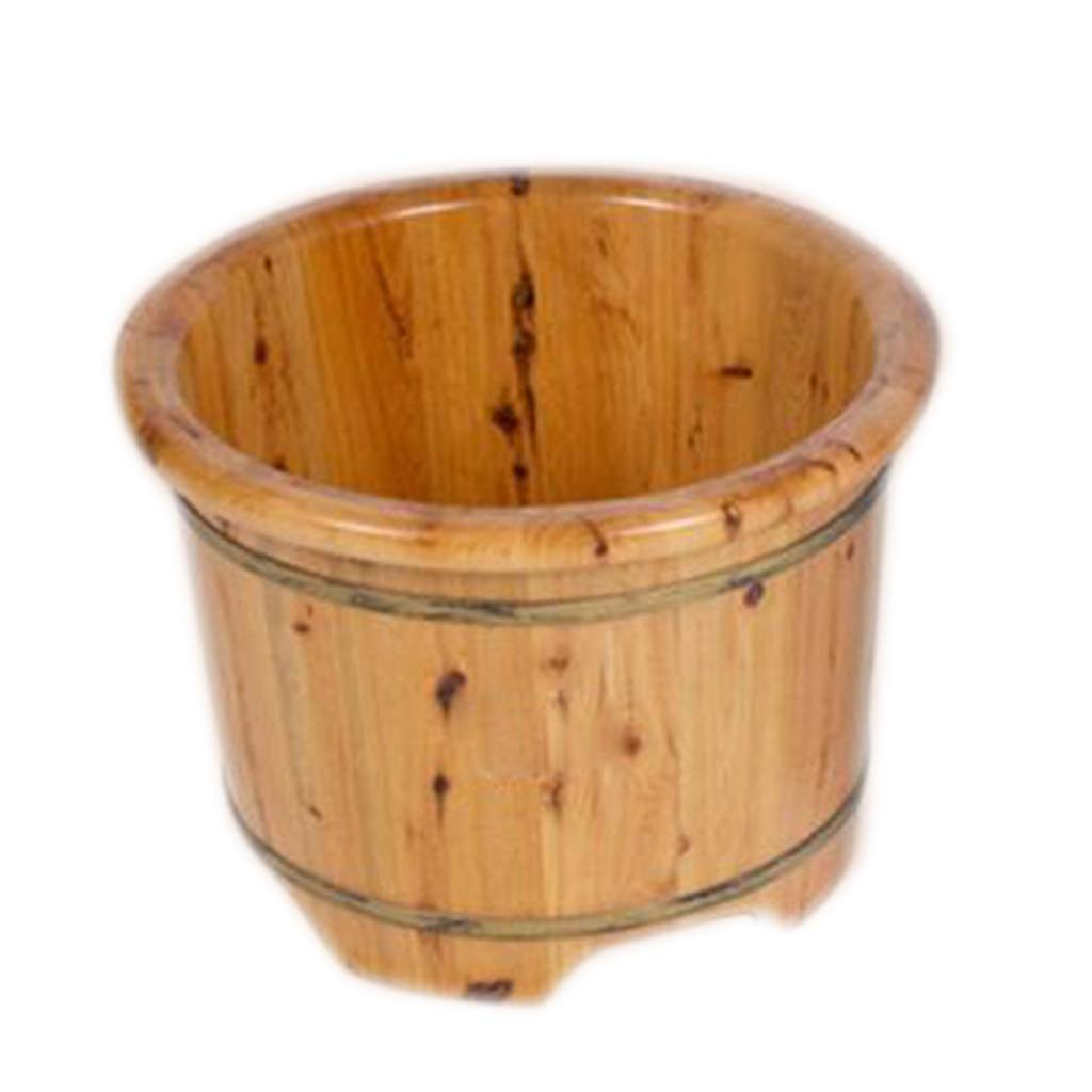 Foot Bath Tub,Cedar Corrosion Resistance Foot Bath Barrel,Household Fumigating Barrel,with Drainage Wooden Barre (Size : 35cm)