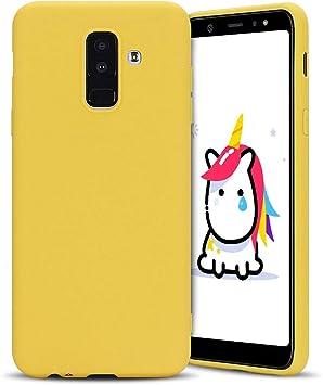 Anfire-ES Funda para Samsung Galaxy A6 Plus 2018, Silicona Case ...