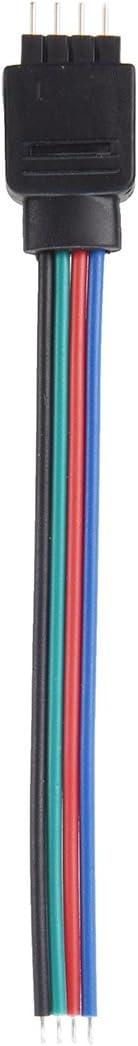 2 x 4 broches Cable flexible de bandes LED RGB male vers femelle SODIAL R