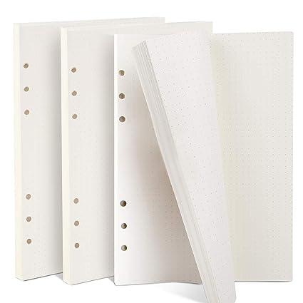 Teenitor 3 paquets Pois papier, A5 (21 x 14.2 cm) 6 anneaux ...