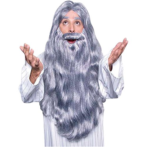 Merlin Wig And Beard Set (Merlin Wizard Costume Wig & Beard Set)