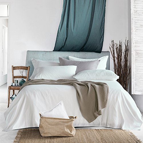 Bed Sheet Set, Brushed Microfiber 1800 Bedding Collection Sets, Hypoallergenic & Super Soft, Breathable, Anti Wrinkle by Sable (Queen, White)