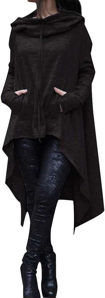 Sudaderas con Capucha Largas Mujer Sudaderas Chica Jerseys Vestido Sudadera Larga Deportivas Camisetas de Manga Larga Dama Pullover Oversize Top Bonitas Femeninas