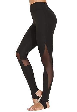 CROSS1946 Mesh Legging de Yoga Femme pour Sport Jogging Pantalons Fitness  Gym Leger Collant avec Tulle  Amazon.fr  Vêtements et accessoires 21e09bd7260