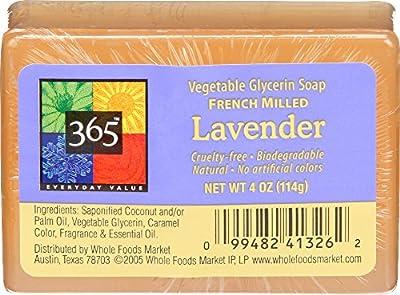 365 Everyday Value, Lavender Vegetable Glycerin Soap, 4 oz