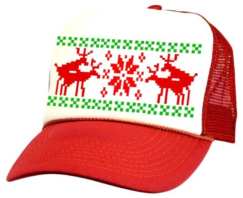 ugly christmas sweater hats for truckers - Ugly Christmas Hats