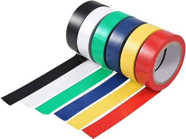 L'isolation électrique bande 19mm x 4,5 m bleu rouge vert noir ou jaune disponible