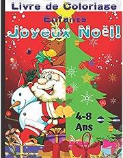 Joyeux Noël Livre de Coloriage Enfants 4-8 ans: Cadeau de Noël du Père Noël pour Les Tout-Petits - 50 Pages à Colorier Avec des Décorations de père Noël, de Renne, de Bonhomme de Neige, D'elfe, de Chat et D'arbre de Noël.
