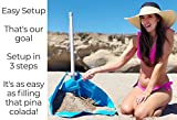 BEACHBUB All-in-One Beach Umbrella System. Includes 7 ½ (50+ UPF) Umbrella, Oversize Bag, Base & Accessory Kit